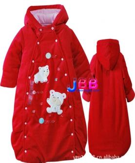 婴幼儿长袖双层夹棉加厚睡袋