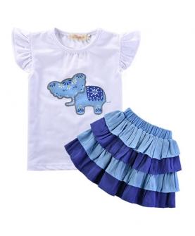 儿童飘飘袖裙女童裙套装