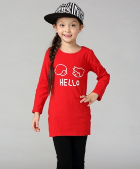 女童娃娃头纯棉修身长裙