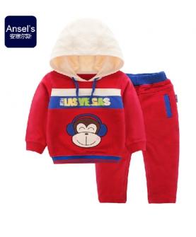 宝宝外出服男童卫衣运动套装