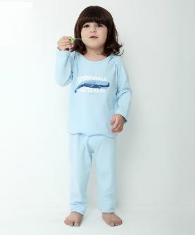 纯棉男女宝宝长袖套装