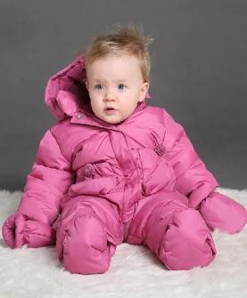 婴儿羽绒服保暖童装连体衣