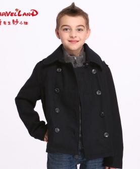 英伦羊毛儿童呢子呢大衣