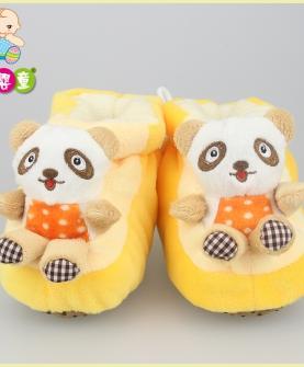 卡通猫熊高帮超柔保暖宝宝棉鞋