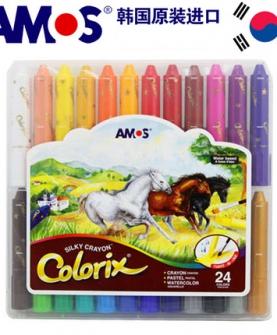 儿童彩色旋转无毒蜡笔水洗油画棒涂色笔