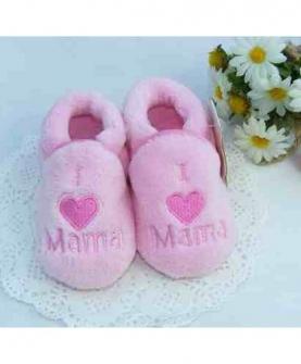 超柔软珊瑚绒宝宝鞋套