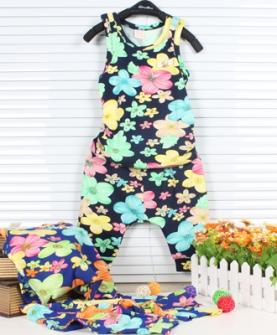 女童碎花夏季套装