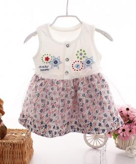 宝宝连衣裙蕾丝背心裙