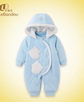 婴幼儿加绒连体衣