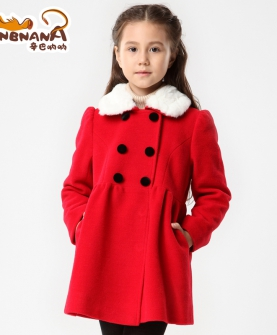 儿童中长款呢大衣