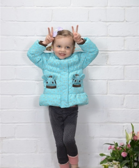 AW122 女小童心心相印款90-110 蓝色