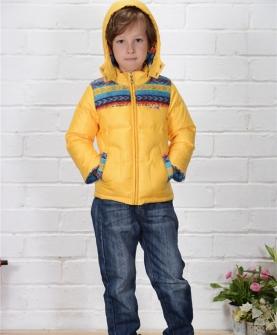 AW215男小童民族珊瑚绒95-120 黄色