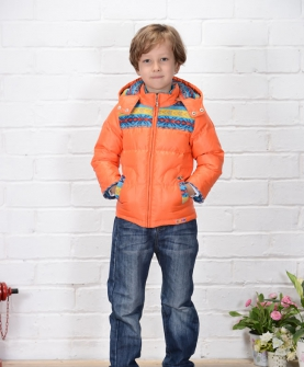 AW215男小童民族珊瑚绒95-120 橘色