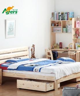 松木实木儿童床