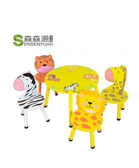儿童动物桌椅套装