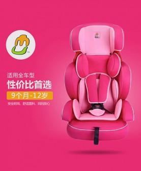 枚红色安全座椅