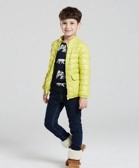 冬款男童黄色羽绒服