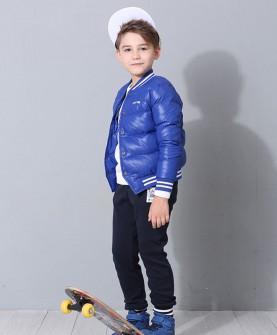 冬款男童蓝色羽绒服