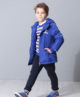 冬款男童蓝色棉服