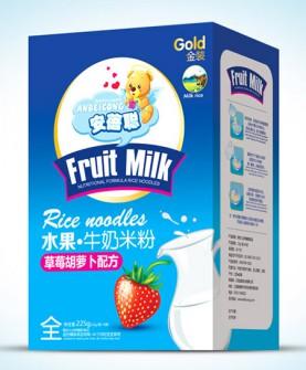 水果牛奶米粉盒装