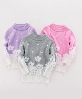 秋冬款冬季女童针织衫