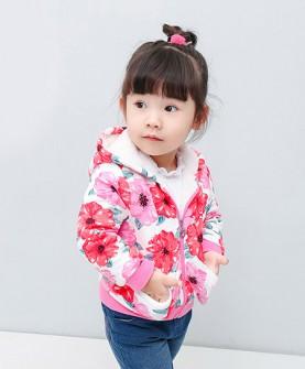 女童冬季加绒加厚潮流外套