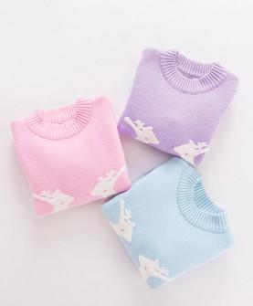 秋冬女童套头针织衫