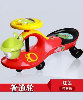 儿童扭扭车红色普通轮