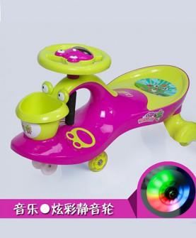 儿童扭扭车紫色静音发光轮