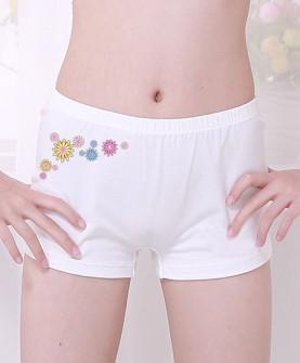 女童卡通白色全棉内裤