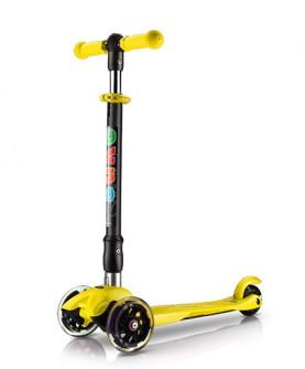 柠檬黄色折叠儿童滑板车