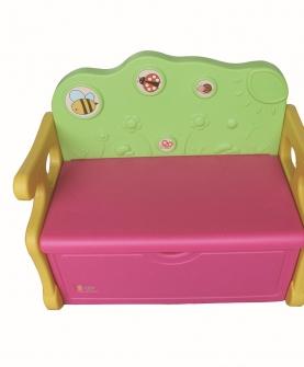 吹塑儿童多功能收纳椅收纳箱