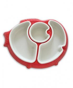 分隔餐盘(红色)