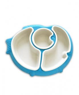 分隔餐盘(蓝色)