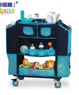 简易推车幼儿用品店整理收纳柜
