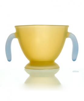安全硅胶方形学饮杯
