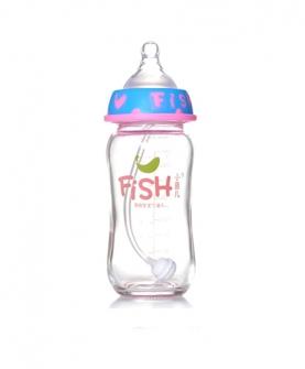 宽口径钢化玻璃奶瓶240ml