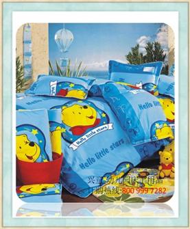 幼儿园床上用品:维尼熊