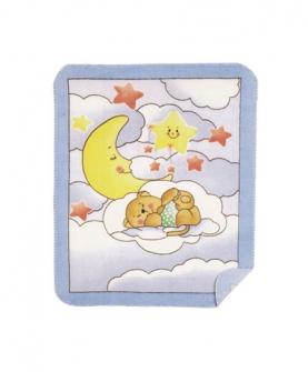 高級婴儿毯(星星月亮熊)