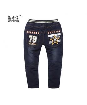 中小童牛仔休闲长裤