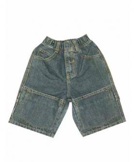 儿童牛仔短裤(青色)