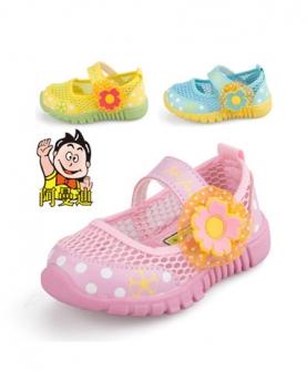 女宝宝夏软底学步鞋