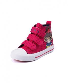 儿童高帮帆布鞋
