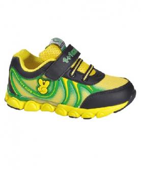 儿童跑步鞋(黑黄绿)