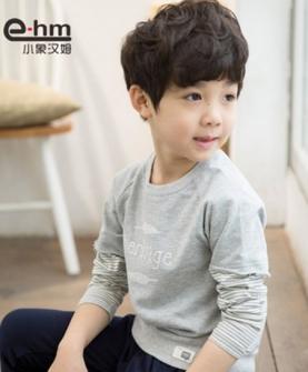 男童纯棉长袖t恤