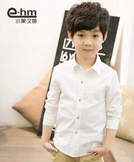 男童长袖衬衫