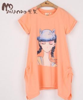 夏装女童短袖t恤衫
