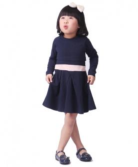 女童连衣裙(青黑色)