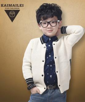 男童针织衫外套