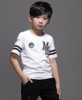 男童上衣t恤(白色)